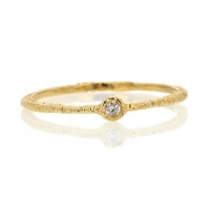 Etched Gold Band with Diamond Image
