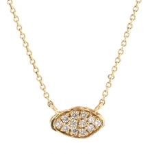 Small Lava Pave Diamond Necklace