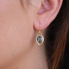 Blue Green Tourmaline Gold Earrings Image
