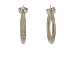 White Gold Hoops Image