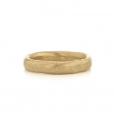 Mans Flattened Gold Band