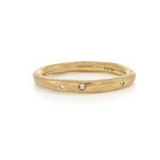 Perfect Thin 18k Gold Band Ring Image