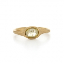 Yellow Rose Cut Diamond Gold Ring Image