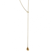 Teardrop 18k Gold Lariat Necklace Image