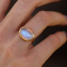 Moonstone Gold Ring Image