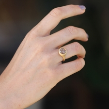 Peach Sapphire Gold Ring Image