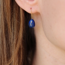 Lapis Egg Earrings Image