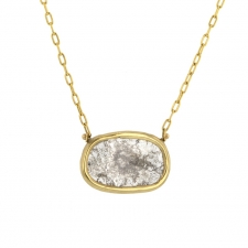 Gold Diamond Slice Necklace Image
