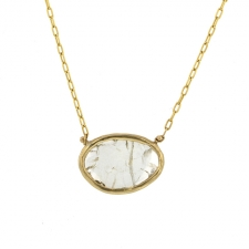 Diamond Slice Gold Necklace Image