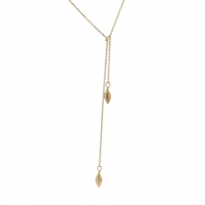 Seeds 10k Gold Lariat Necklace Image