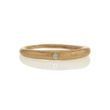Thin Gold Tapered Band Image