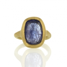 Large Tanzanite Gold Ring Image