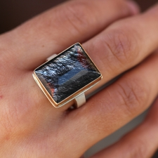 Tourminated Quartz Ring Image