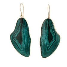 Large Malachite Dioptase Earrings Image