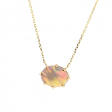 Small Australian Opal Prong Necklace Image