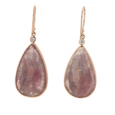 Rose Gold Pink Sapphire Earrings Image