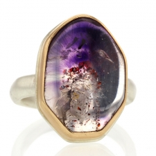Seven Mineral Silver and Gold Ring