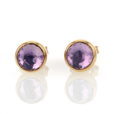 Amethyst Gold Stud Earrings Image