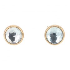 Sky Blue Topaz Post Stud Earrings Image