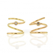 Spiral 18k Gold Earrings Image