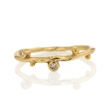 Seafire Gold Diamond Ring 4 Image