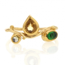 Seafire Tsavorite and Sapphire Gold Ring Image