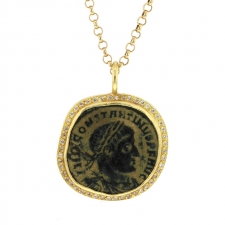 Roman Coin Pave Necklace Image