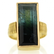 Green Tourmaline 18k Ring