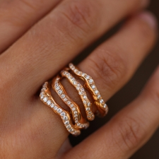Corteccia Rose Gold Diamond Ring Image