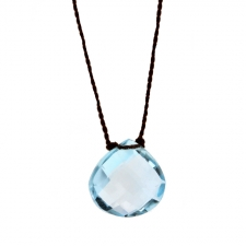Blue Topaz Faceted Zen Gems Necklace Image
