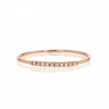 Rose Gold Thin Diamond Half Band Image