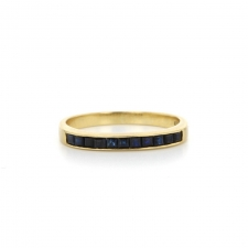 Sapphire 18k Gold Channel Set Half Band Image