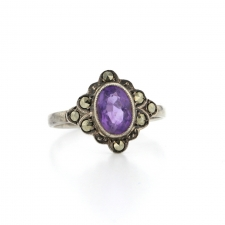 Sterling Silver Amethyst Ring Image