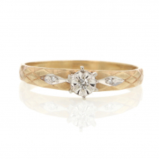 10k Yellow Gold Vintage Diamond Ring Image