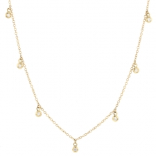 Seven Floating Diamond Gold Necklace Image