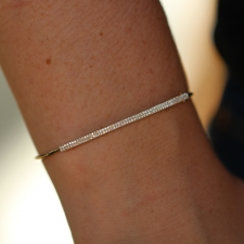Double Pave Row Gold Bracelet Image
