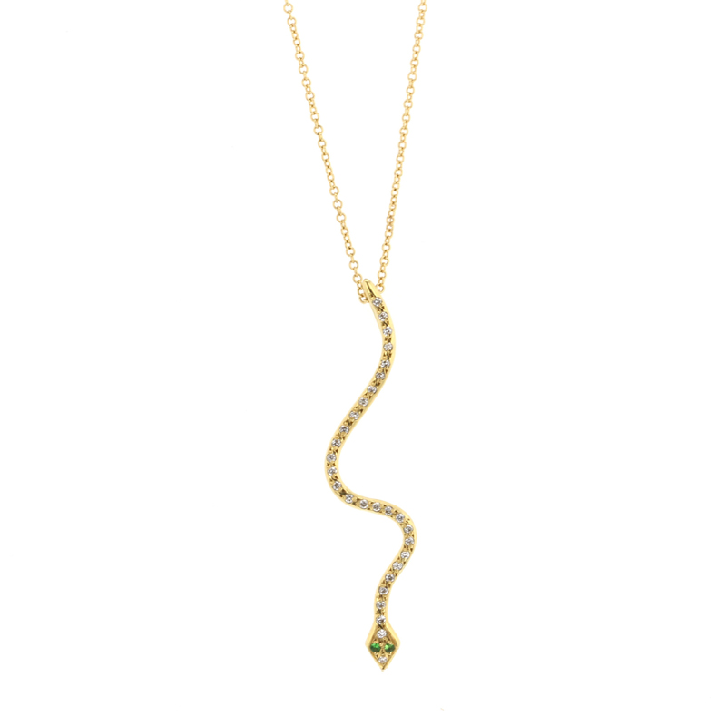 Lucky Snake Diamond Necklace