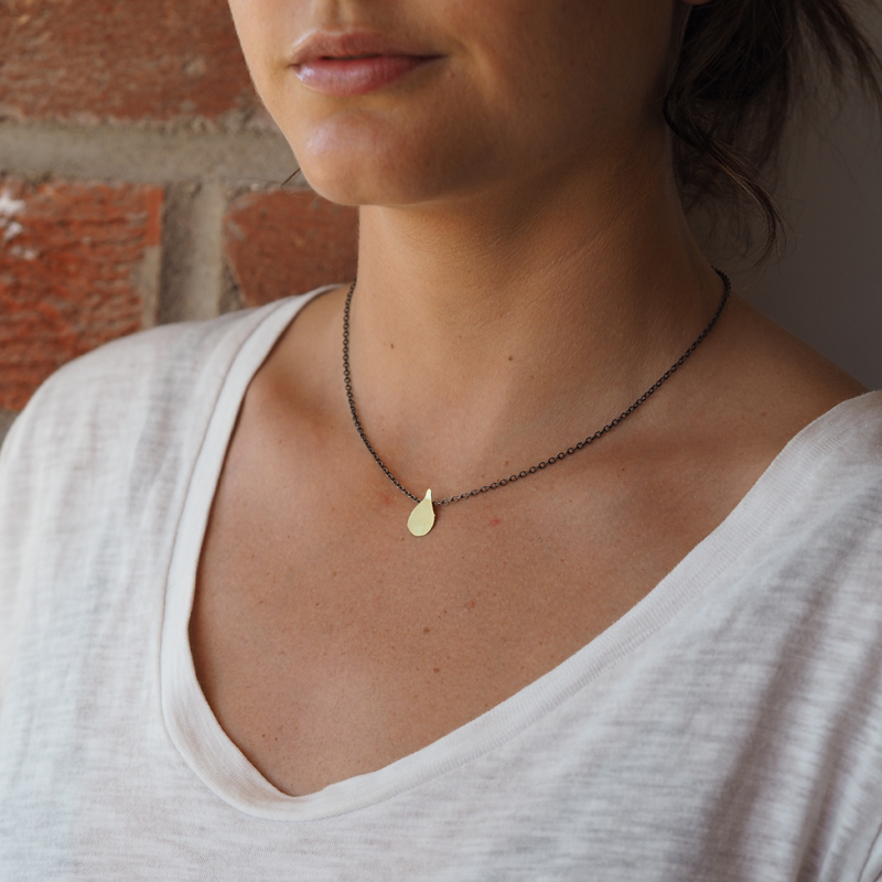 Flame Gold Necklace