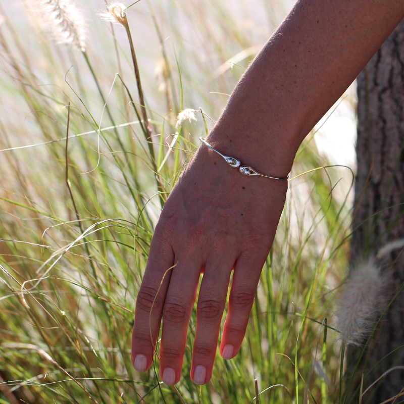 Joint Silver Bangle
