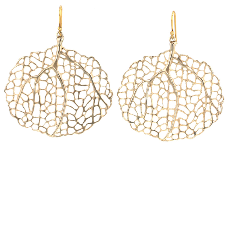 Sterling Small Sea Fan Earrings