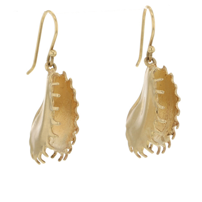Venus Fly Trap Gold Earrings