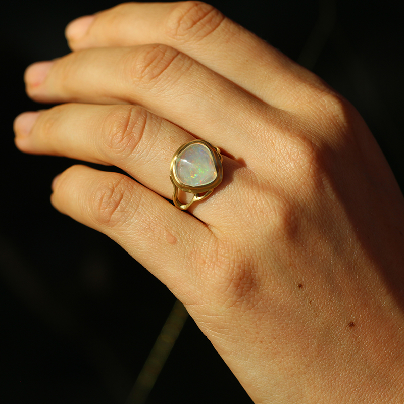 Jelly Opal Branch Ring