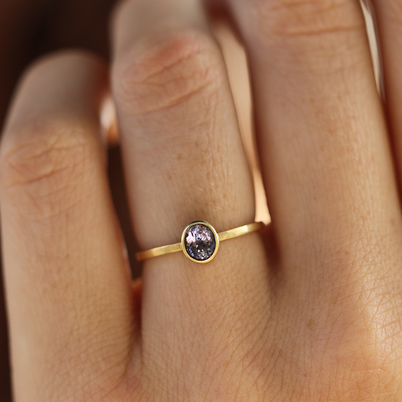 Pale Spinel Gold Ring