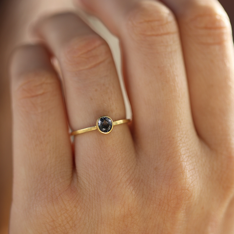 Roundish Oval Spinel Ring