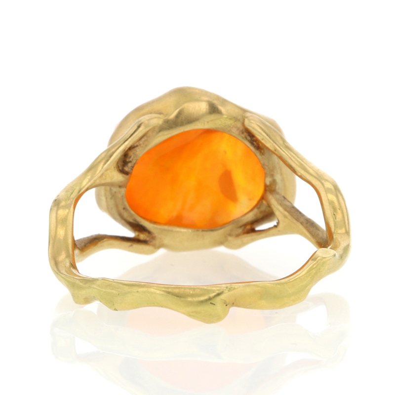 Mexican Jelly Fire Opal Ring