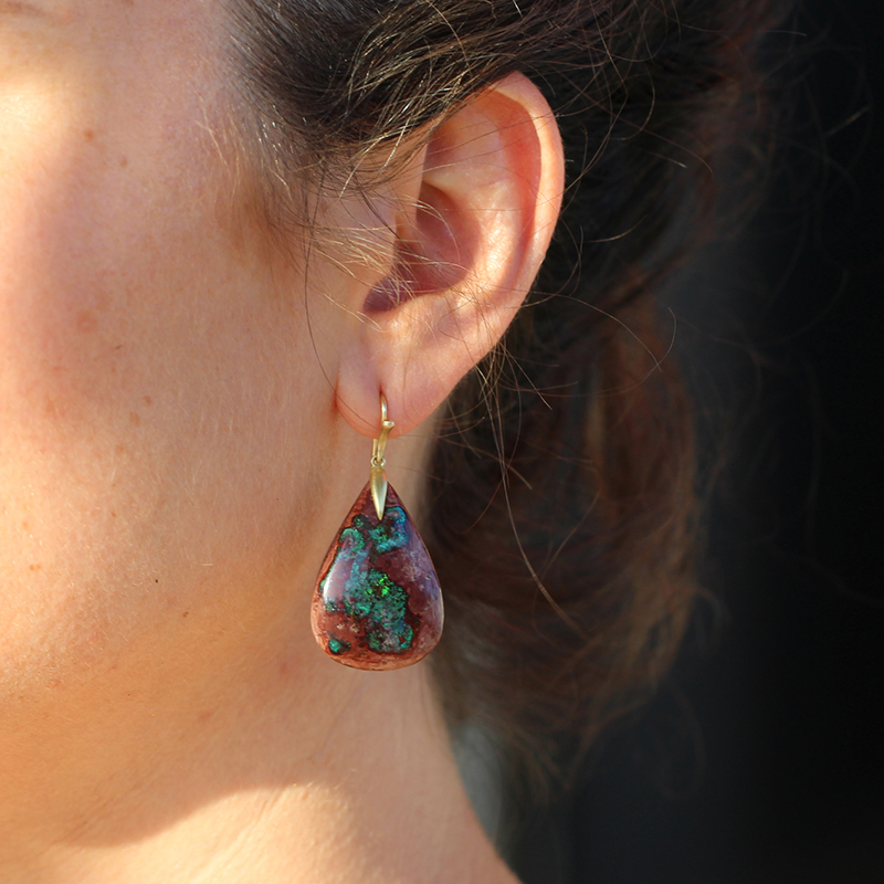 Fire Opal Matrix Earrings