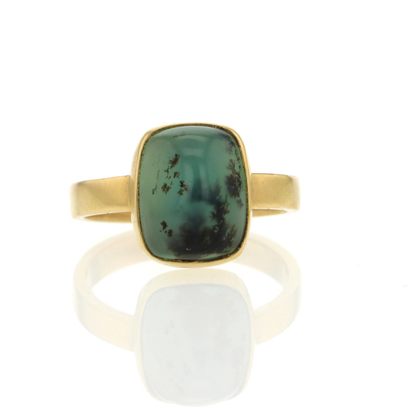 Dendritic Opal Gold Ring