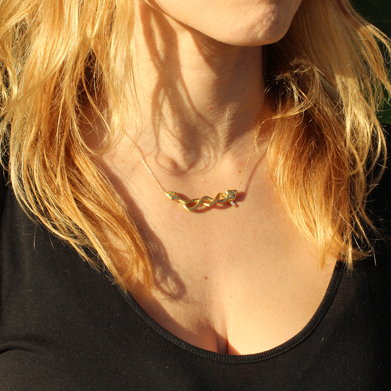 Gold Infinity Snake Necklace