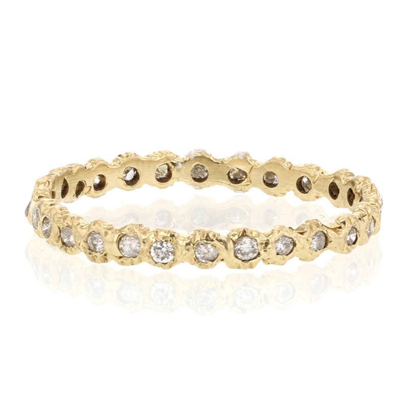 Unique Diamond Loop Gold Eternity Band