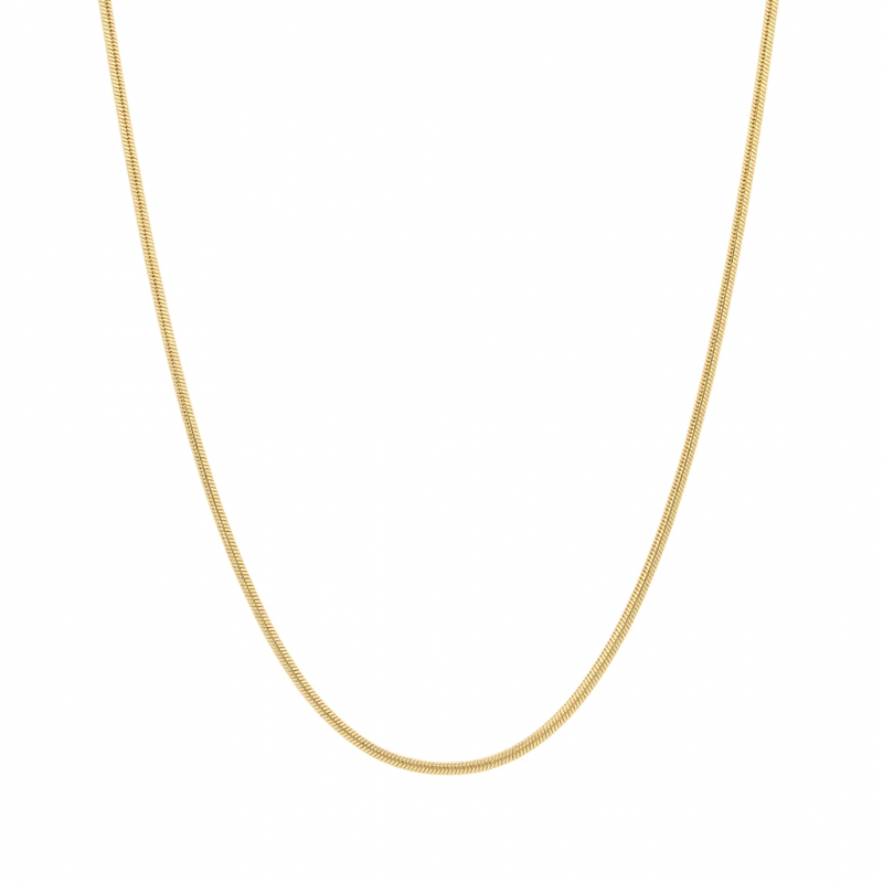18k Gold 1mm Snake Chain Necklace